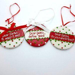 """Set of 3 Ceramic Ornaments 3"""""""